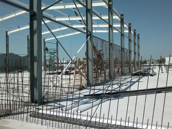 Строителство на нов склад в Свободна зона Бургас