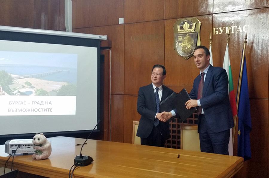 Споразумение за сътрудничество и обмен между Бургас и китайския град Шаосин